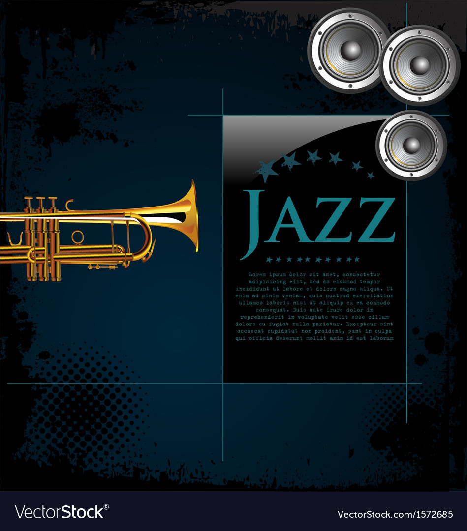 Jazz background poster vector | Price: 3 Credit (USD $3)