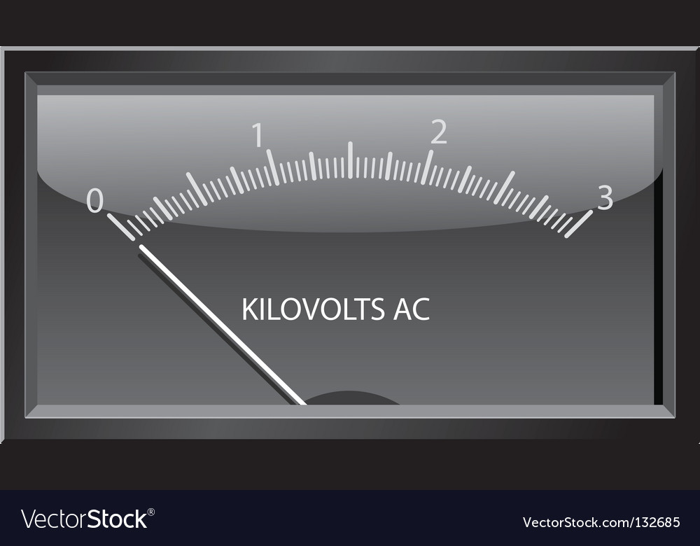 Kilovolts gauge vector | Price: 1 Credit (USD $1)