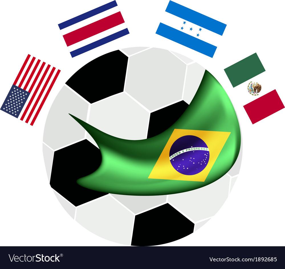 North america qualification in a brazil 2014 vector | Price: 1 Credit (USD $1)