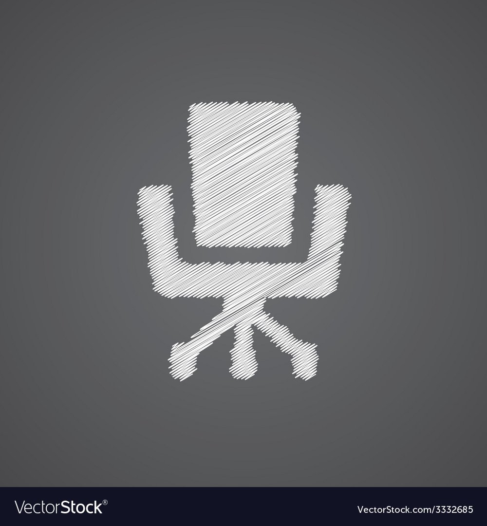 Office chair sketch logo doodle icon vector | Price: 1 Credit (USD $1)