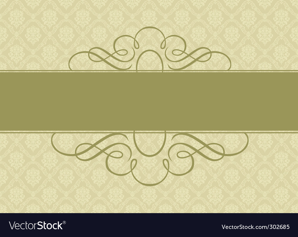 Ornate background and banner vector | Price: 1 Credit (USD $1)