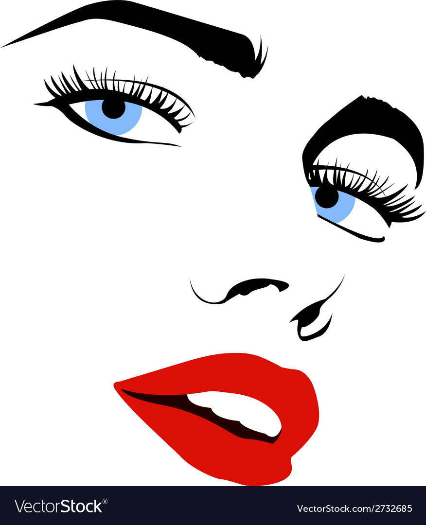 Pretty woman face vector | Price: 1 Credit (USD $1)