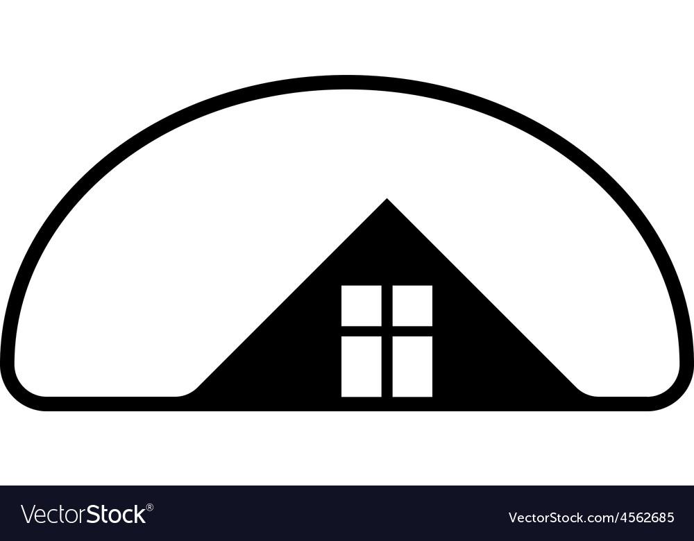 Property developer stylish estate agency symbol vector | Price: 1 Credit (USD $1)
