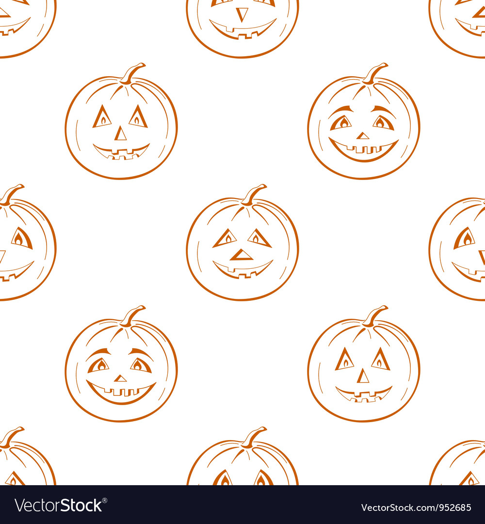 Pumpkins jack o lantern seamless background vector | Price: 1 Credit (USD $1)