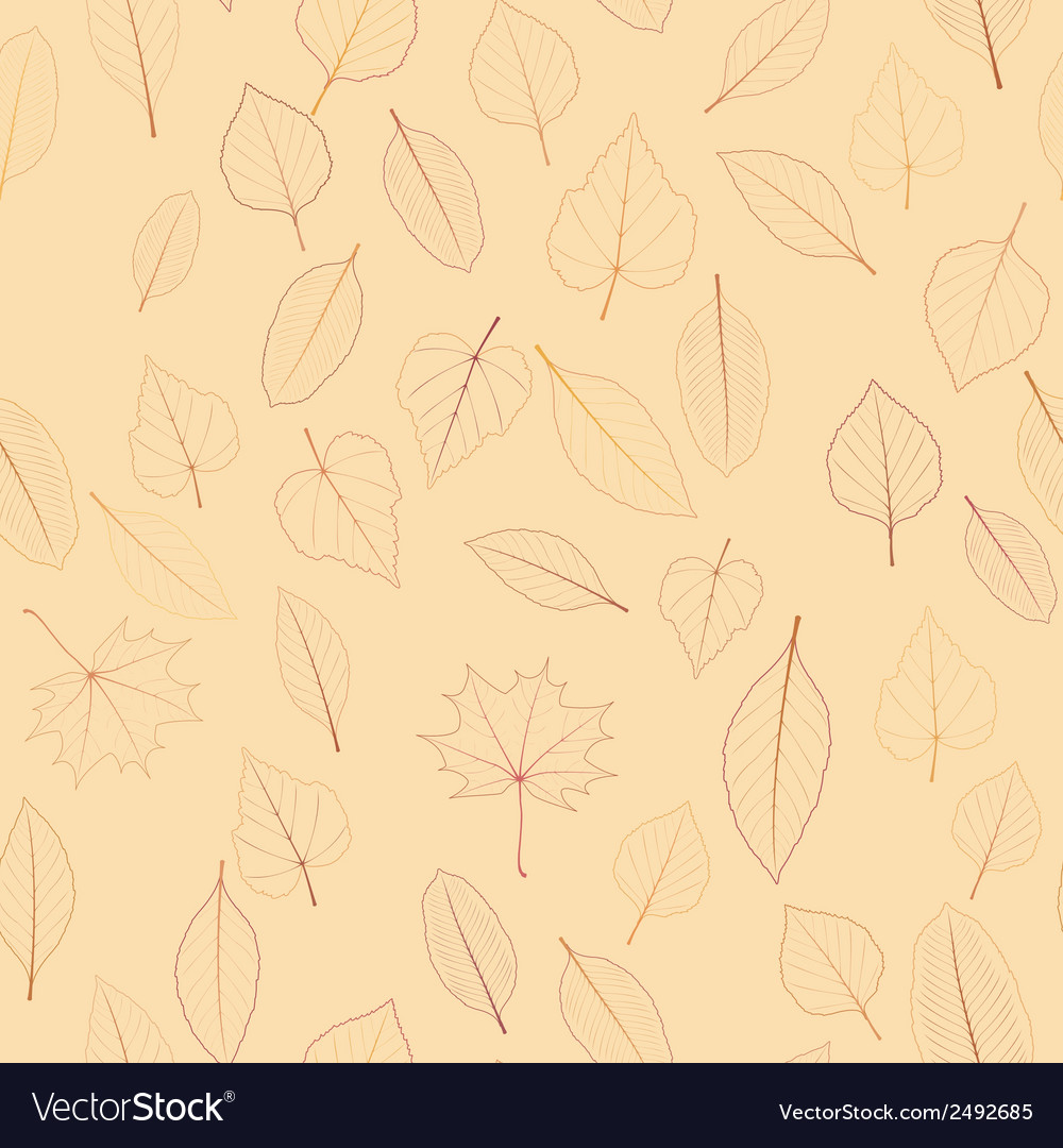 Seamless color leaves pattern plus eps10 vector | Price: 1 Credit (USD $1)