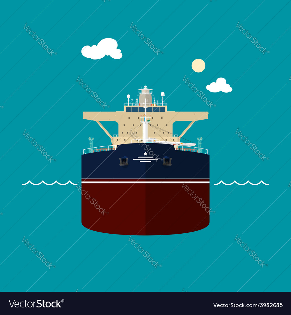 Tanker  front view of a tanker vector | Price: 1 Credit (USD $1)
