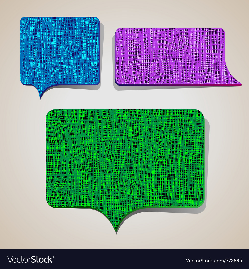 Textured talking bubbles vector | Price: 1 Credit (USD $1)