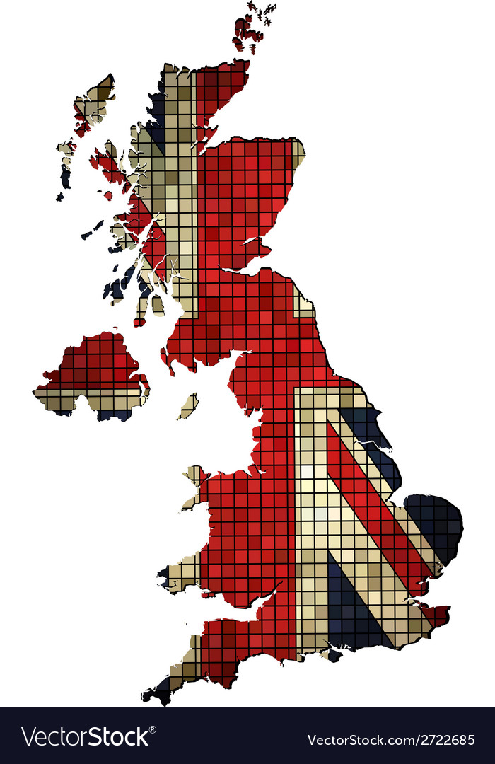 United kingdom map grunge mosaic vector | Price: 1 Credit (USD $1)