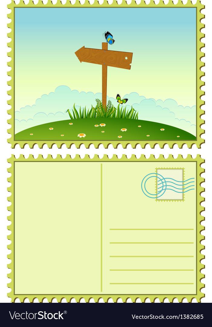 Vintage postcards vector | Price: 1 Credit (USD $1)