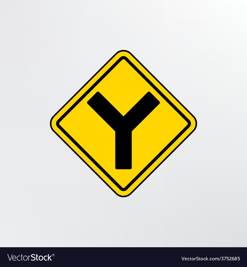 Y intersection icon vector | Price: 1 Credit (USD $1)