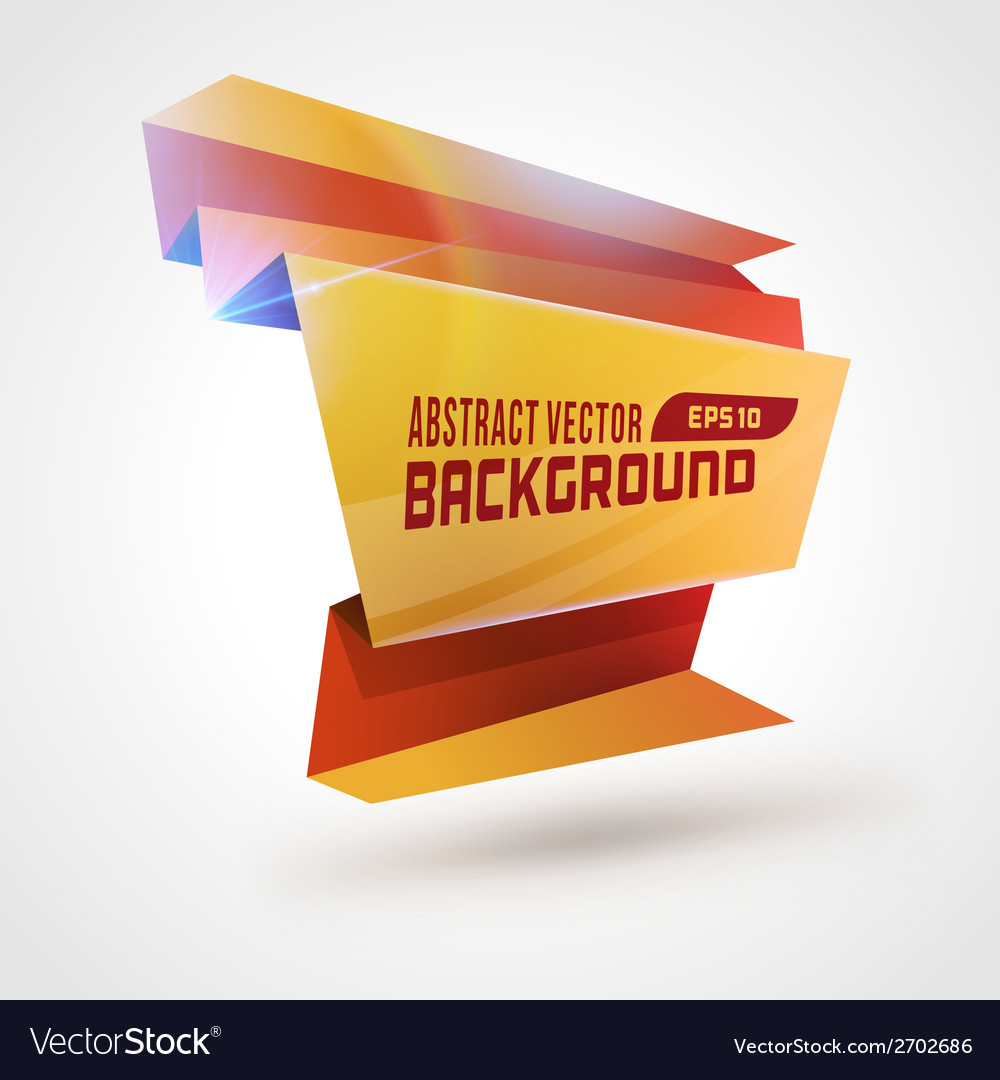 Abstract geometric 3d shape colorful banner vector | Price: 1 Credit (USD $1)