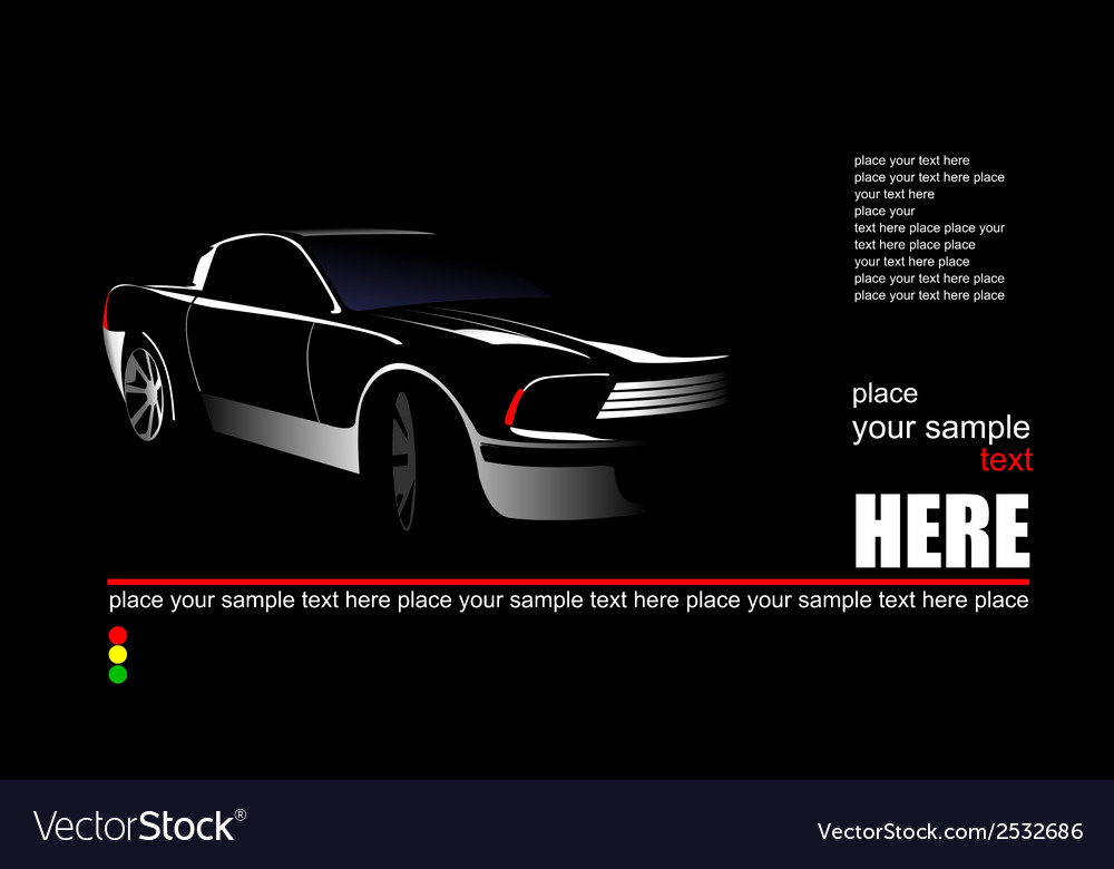 Al 0939 car silhouette vector | Price: 1 Credit (USD $1)