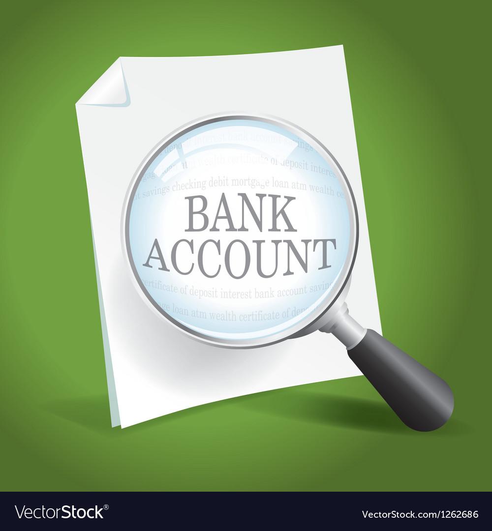Bank account vector   Price: 1 Credit (USD $1)