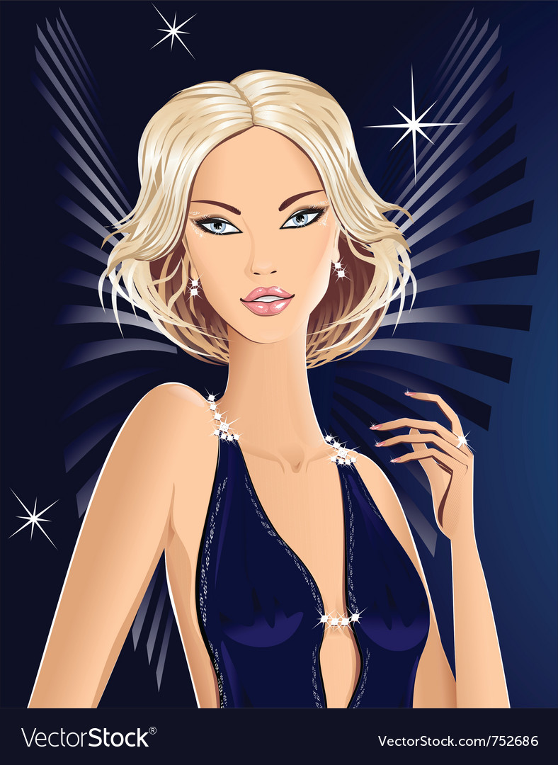 Beautiful blond girl angel vector | Price: 3 Credit (USD $3)