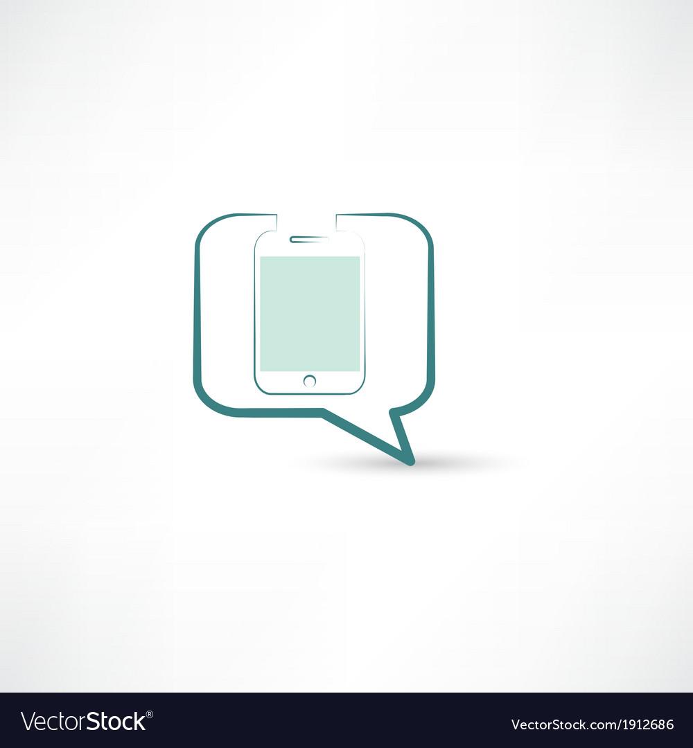 Cellphone in bubble speech vector   Price: 1 Credit (USD $1)