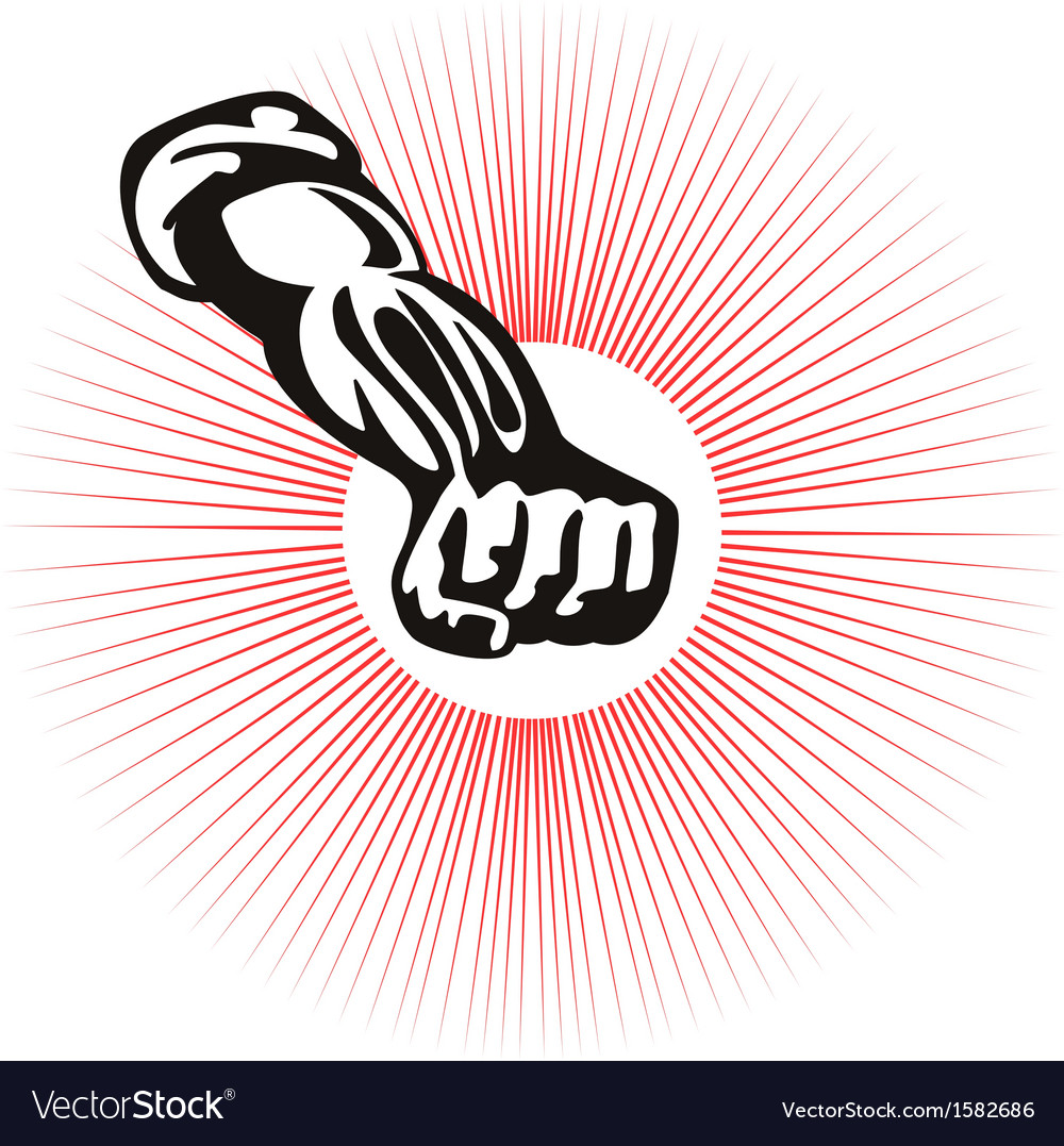 Clenched fist front view vector | Price: 1 Credit (USD $1)