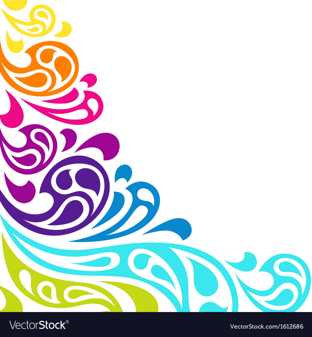 Color splash waves abstract background vector | Price: 1 Credit (USD $1)