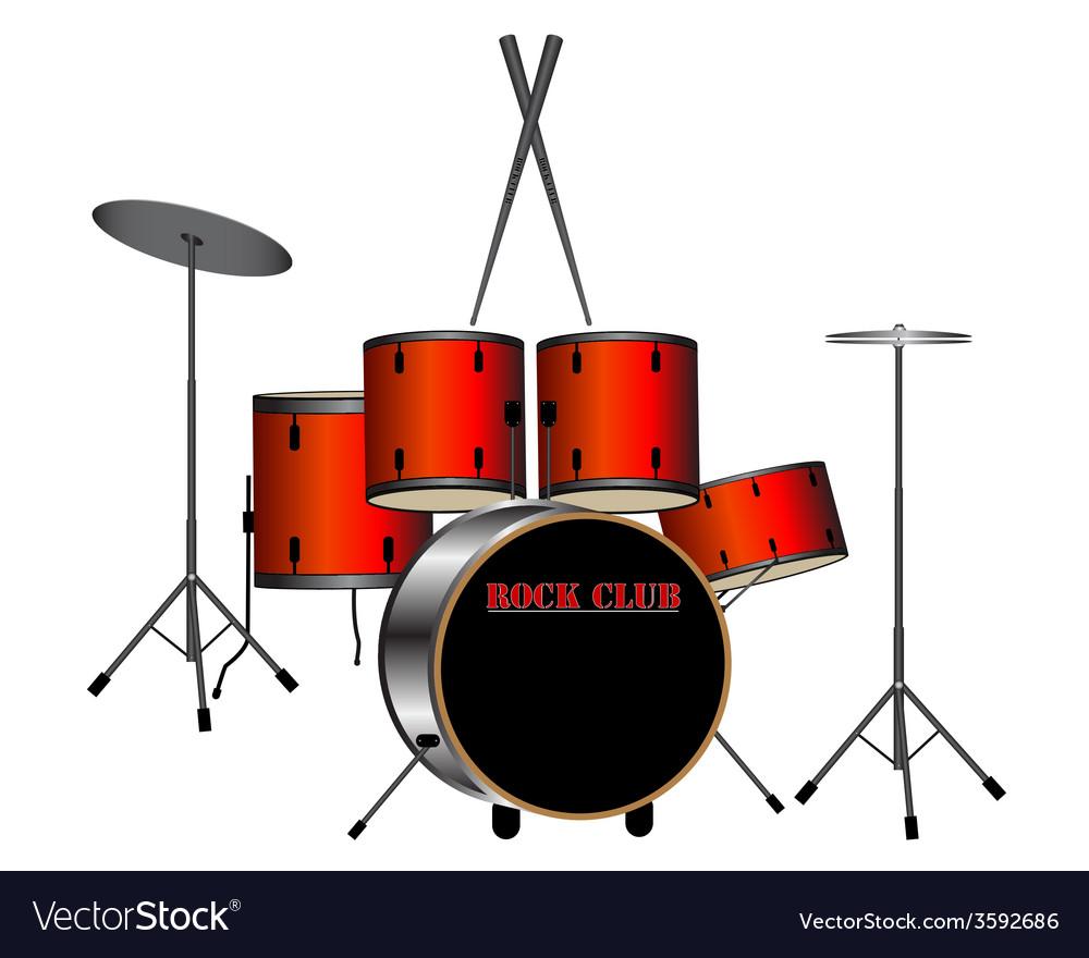 Drums vector | Price: 1 Credit (USD $1)