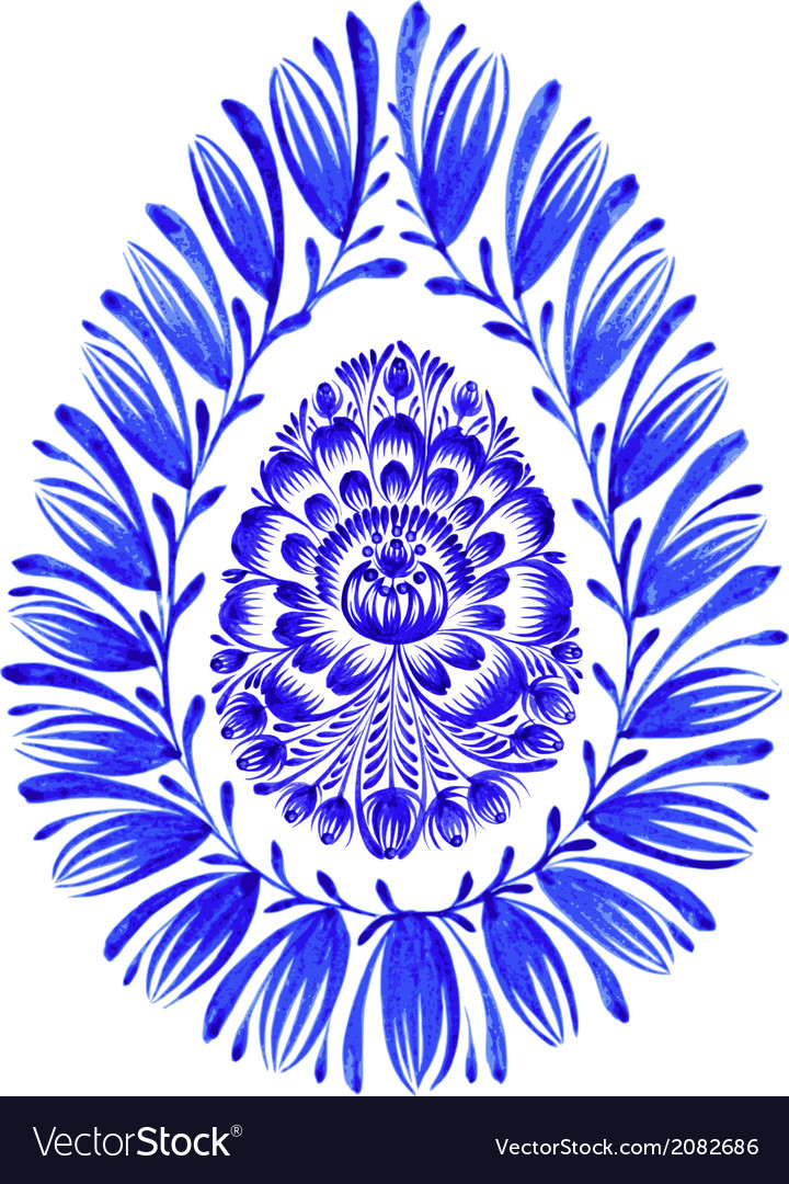 Floral decorative ornament easter egg vector | Price: 1 Credit (USD $1)