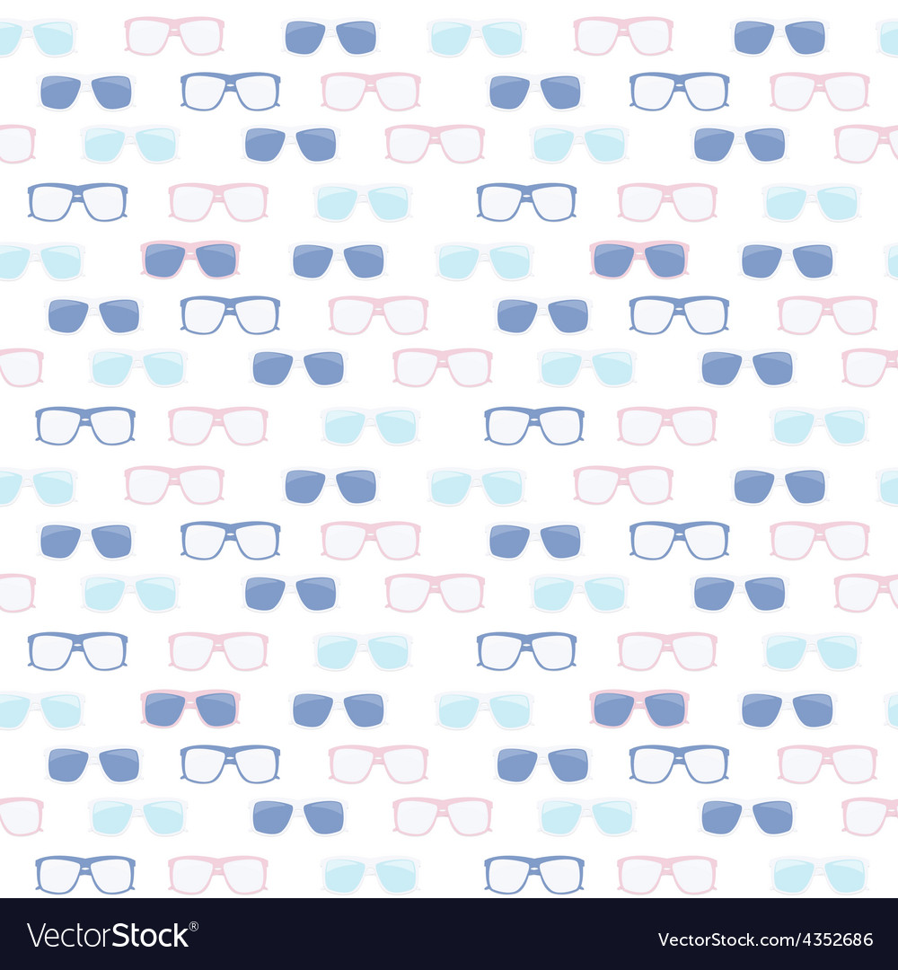 Glasses and sunglasses seamless pattern vector | Price: 1 Credit (USD $1)