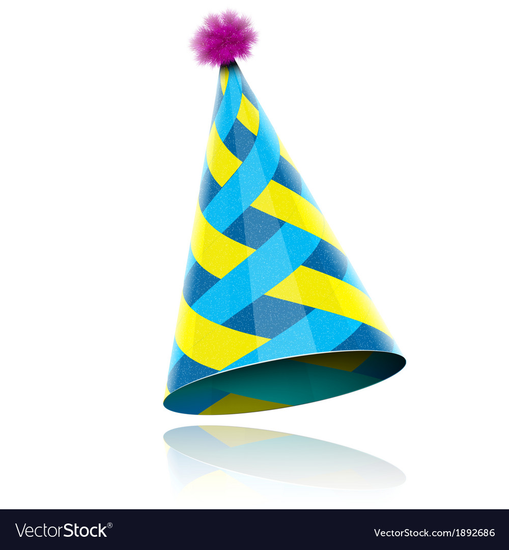 Glossy cone-like hat for event celebration vector | Price: 1 Credit (USD $1)