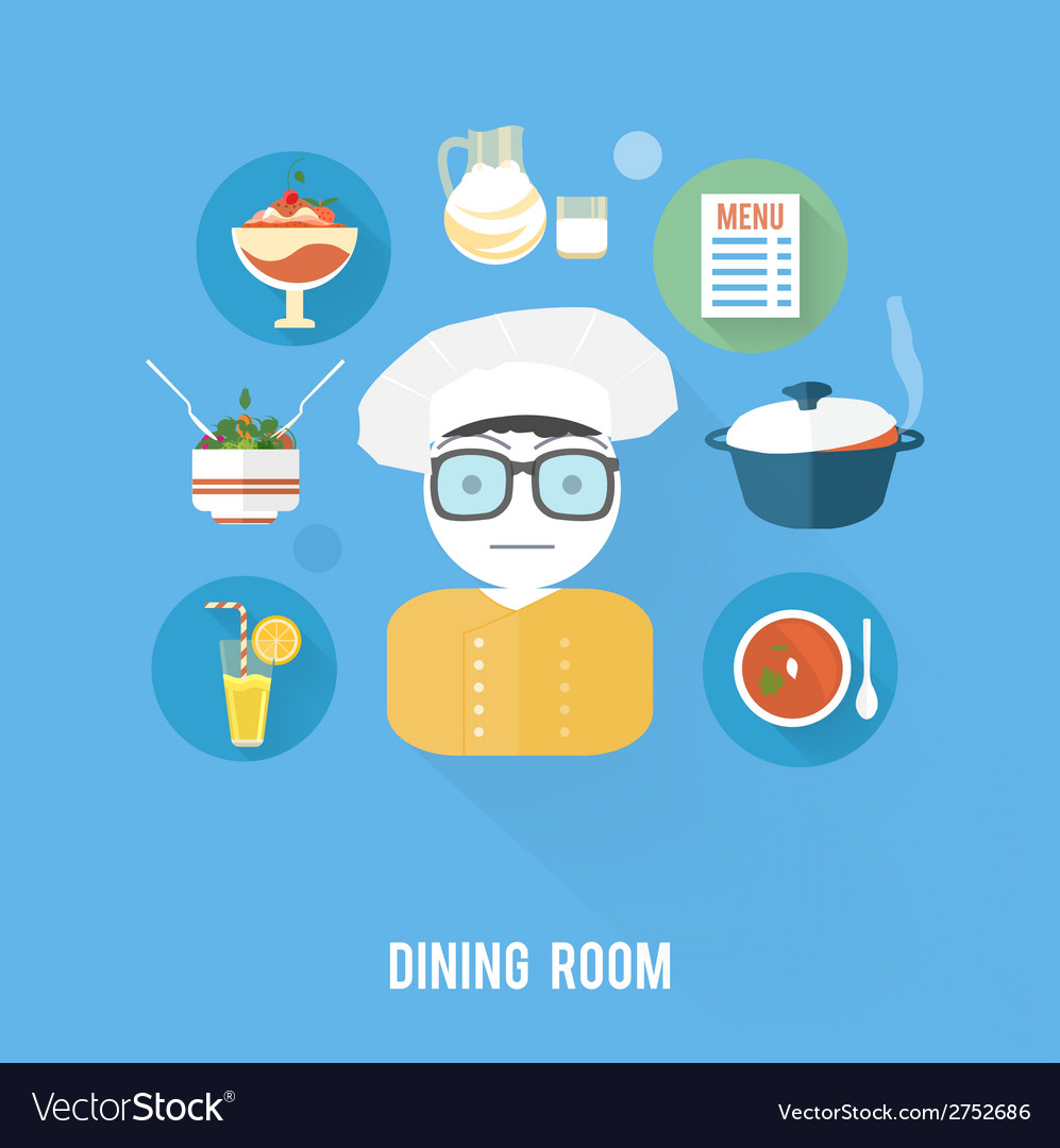 Kitchen concept with item icons vector | Price: 1 Credit (USD $1)