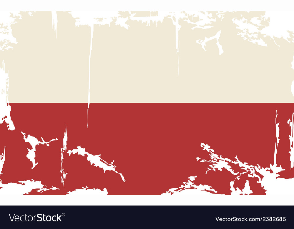 Polish grunge flag vector | Price: 1 Credit (USD $1)