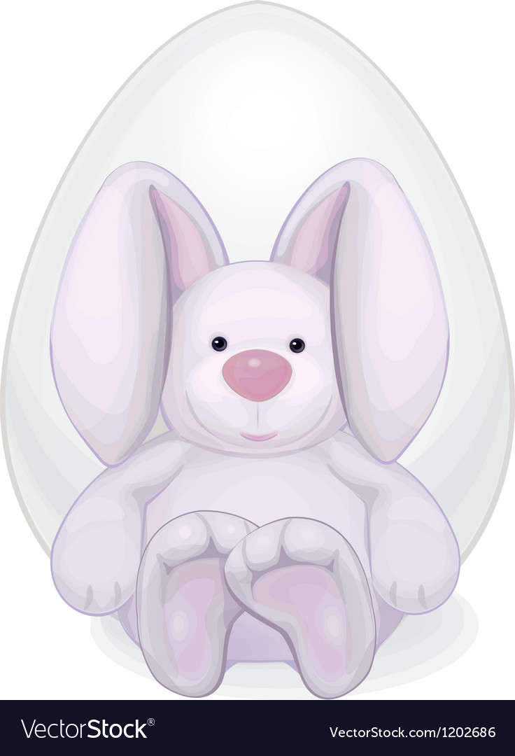 Rabbit with egg vector | Price: 1 Credit (USD $1)