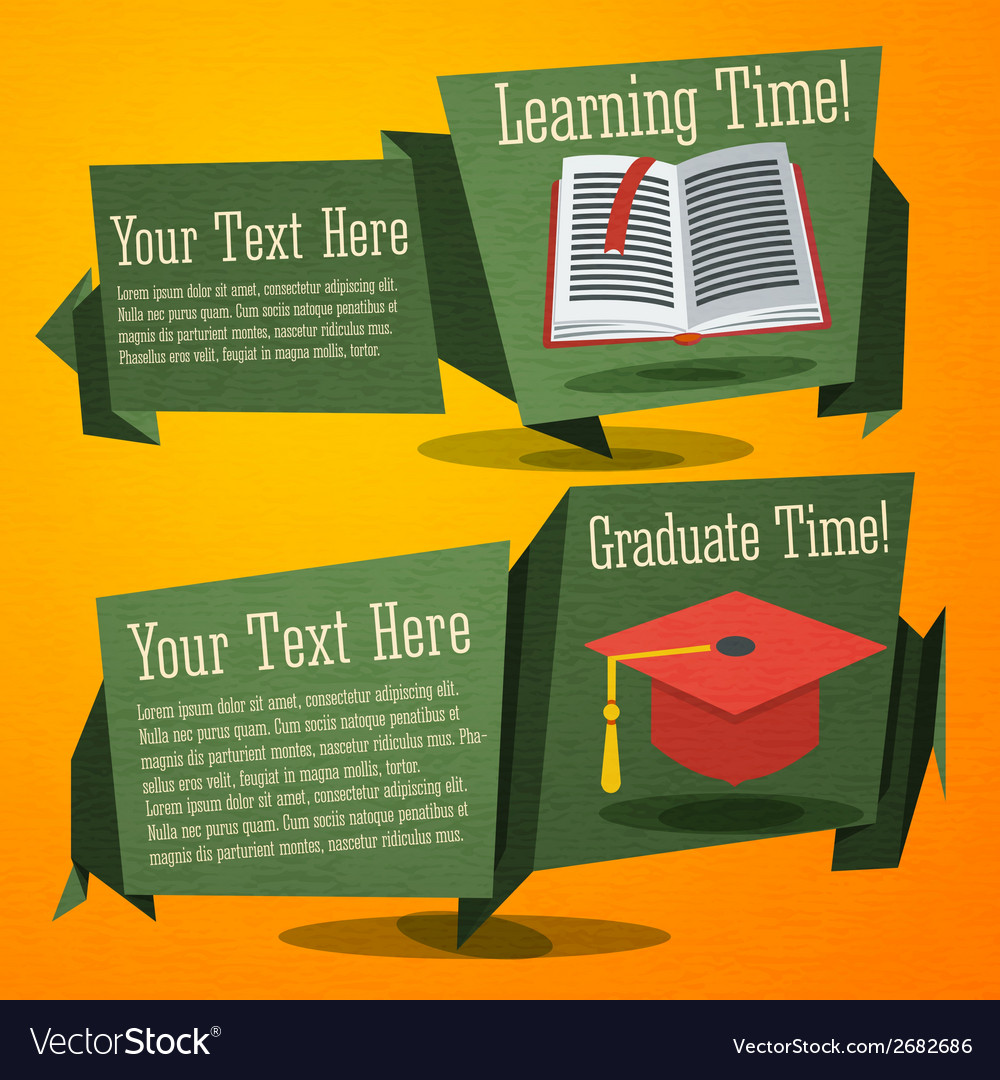 Set of cute back to school banners with text book vector | Price: 1 Credit (USD $1)