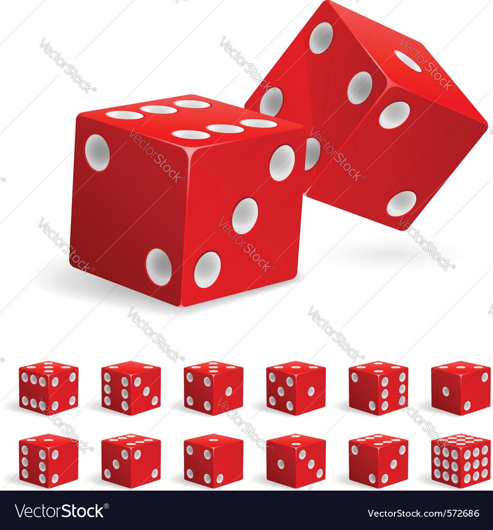 Set of dice vector | Price: 1 Credit (USD $1)