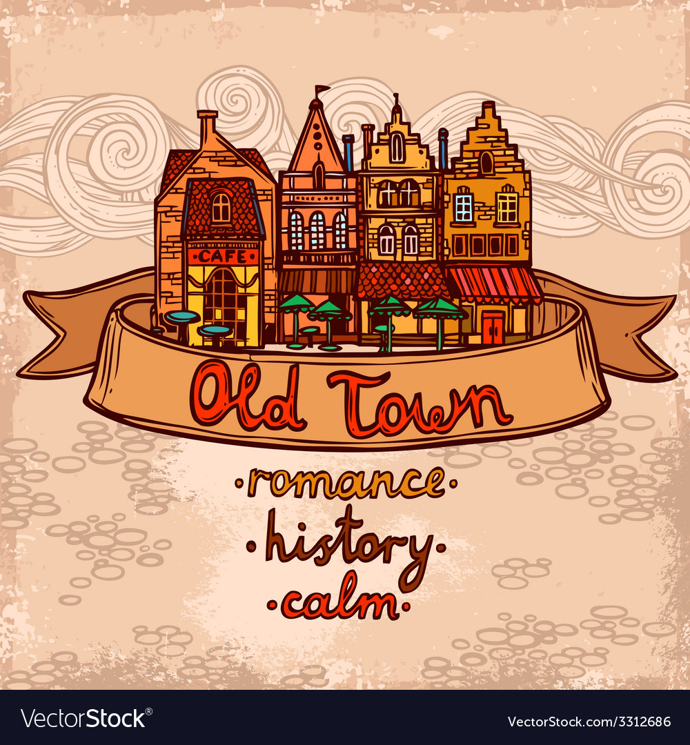 Sketch city background vector | Price: 1 Credit (USD $1)