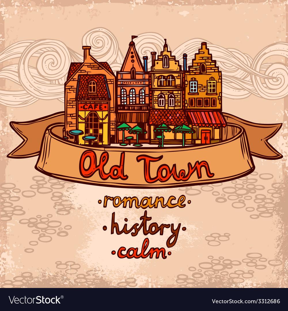 Sketch city background vector | Price: 1 Credit (USD $1)