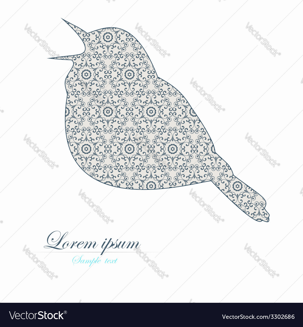 Template of brochure with stylized bird vector | Price: 1 Credit (USD $1)