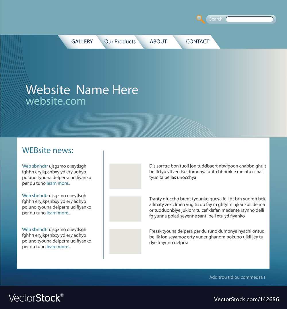 Web site template vector | Price: 1 Credit (USD $1)