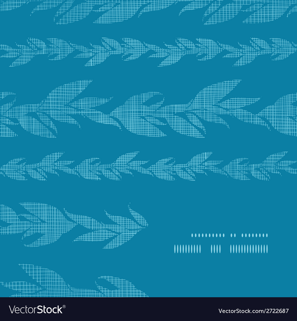 Blue vines stripes textile textured frame corner vector | Price: 1 Credit (USD $1)