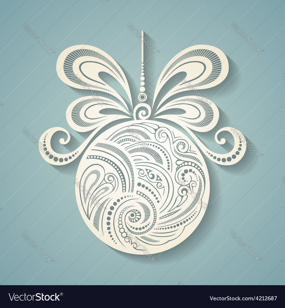 Floral decorative design vector | Price: 1 Credit (USD $1)