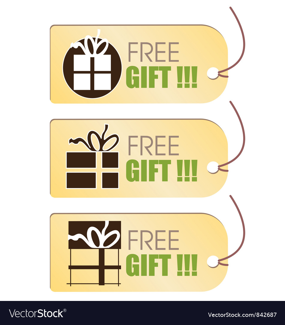 Free gift tag vector | Price: 1 Credit (USD $1)