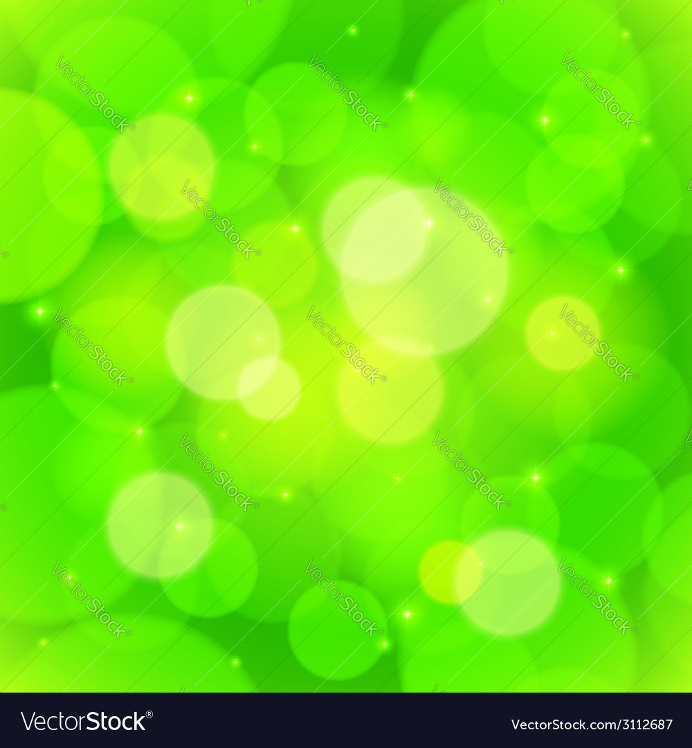 Green bokeh effect abstract background vector | Price: 1 Credit (USD $1)