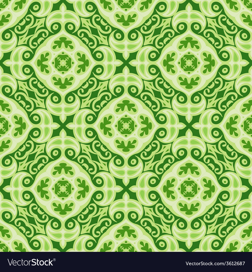 Green christmas background seamless tiles vector | Price: 1 Credit (USD $1)