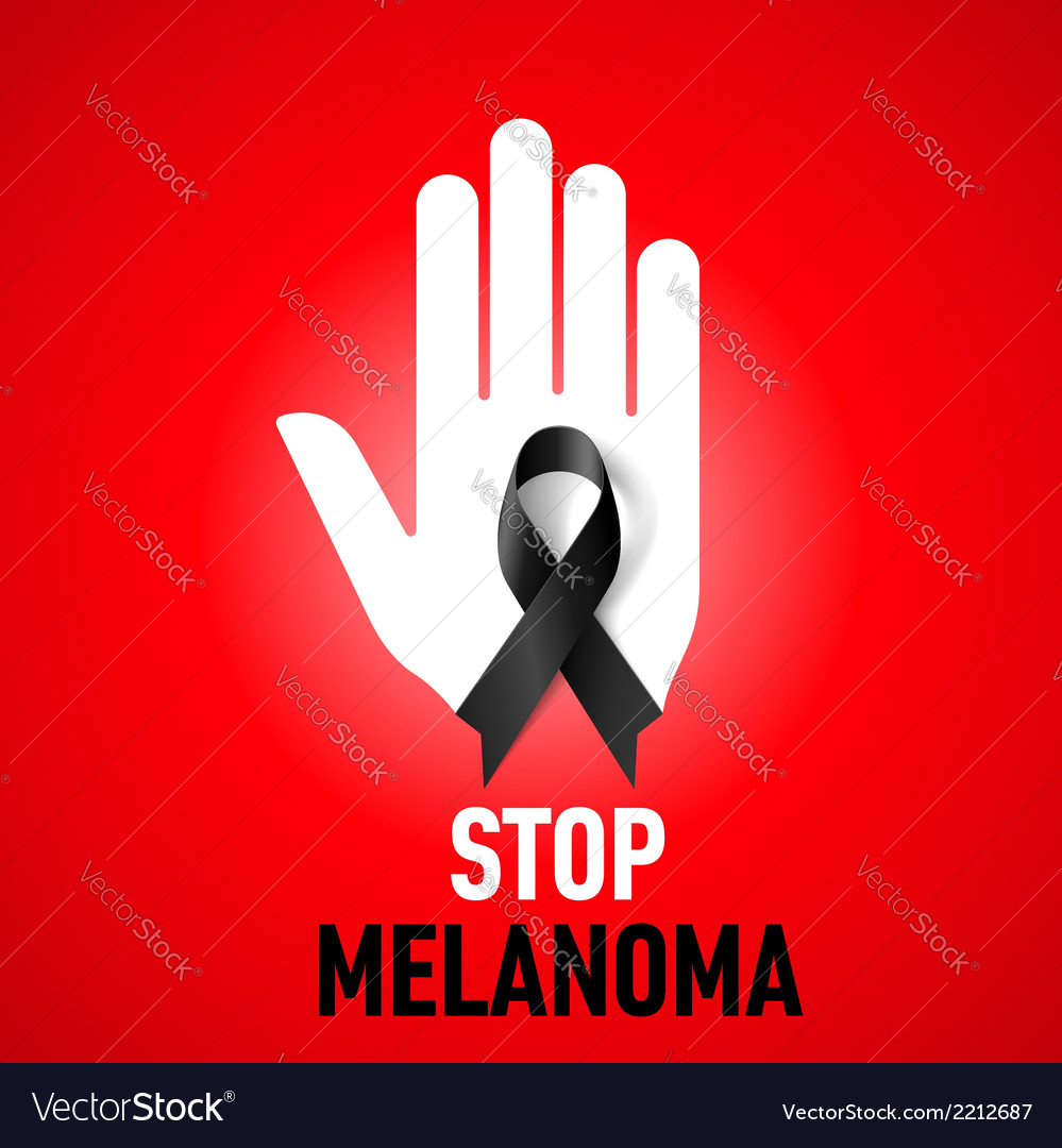 Stop melanoma sign vector | Price: 1 Credit (USD $1)