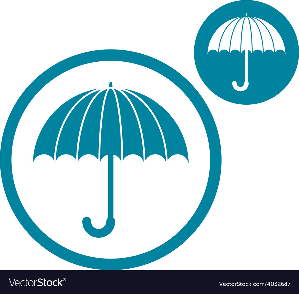 Umbrella simple single color icon isolated on vector | Price: 1 Credit (USD $1)