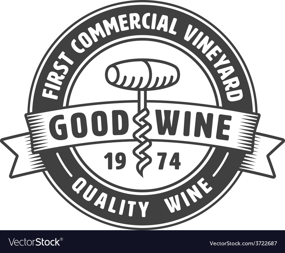 Vintage winery label vector | Price: 1 Credit (USD $1)