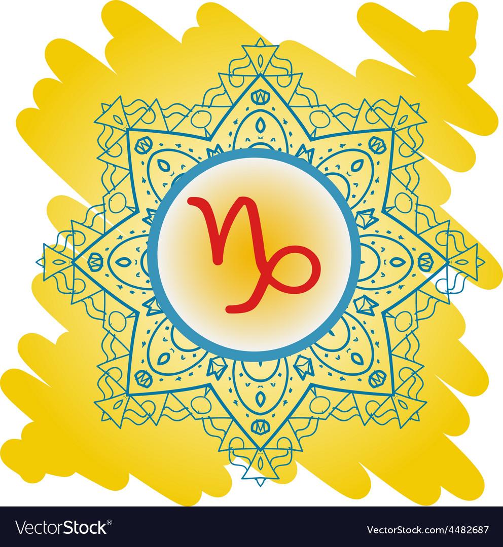 Zodiac sign the goat capricorn vector | Price: 1 Credit (USD $1)