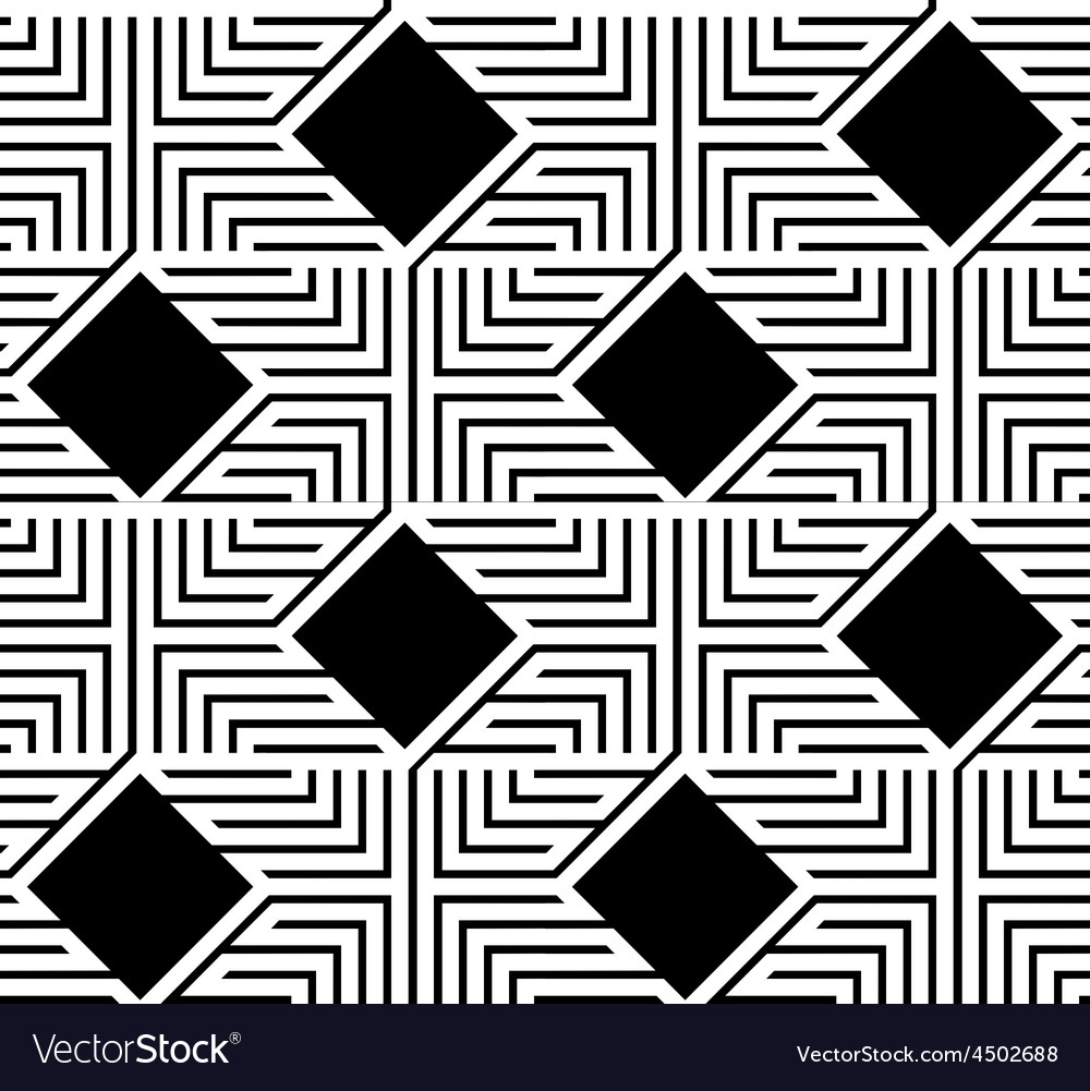 Abstract black and white zigzag seamless pattern vector | Price: 1 Credit (USD $1)