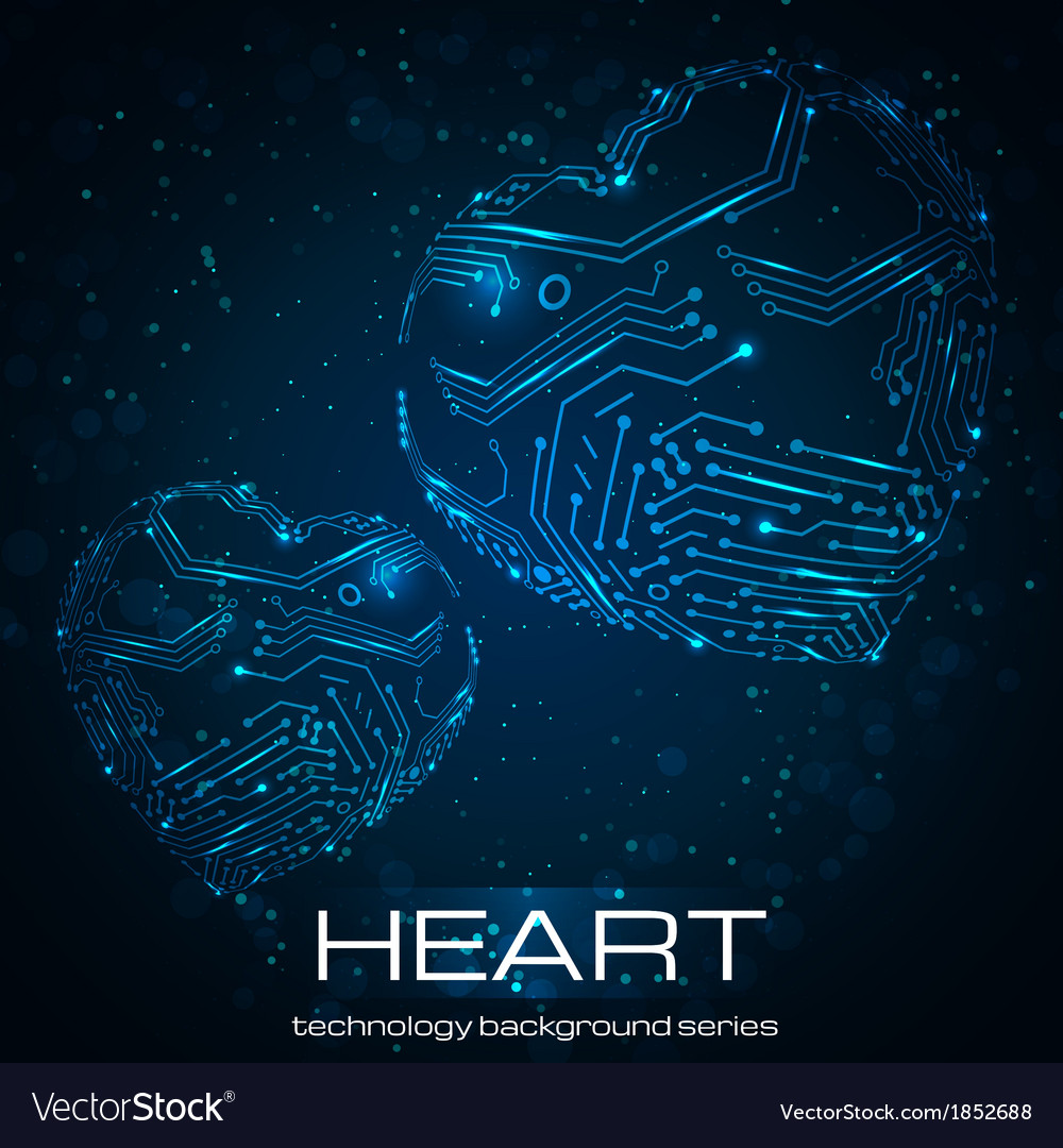Abstract technology heart vector | Price: 1 Credit (USD $1)