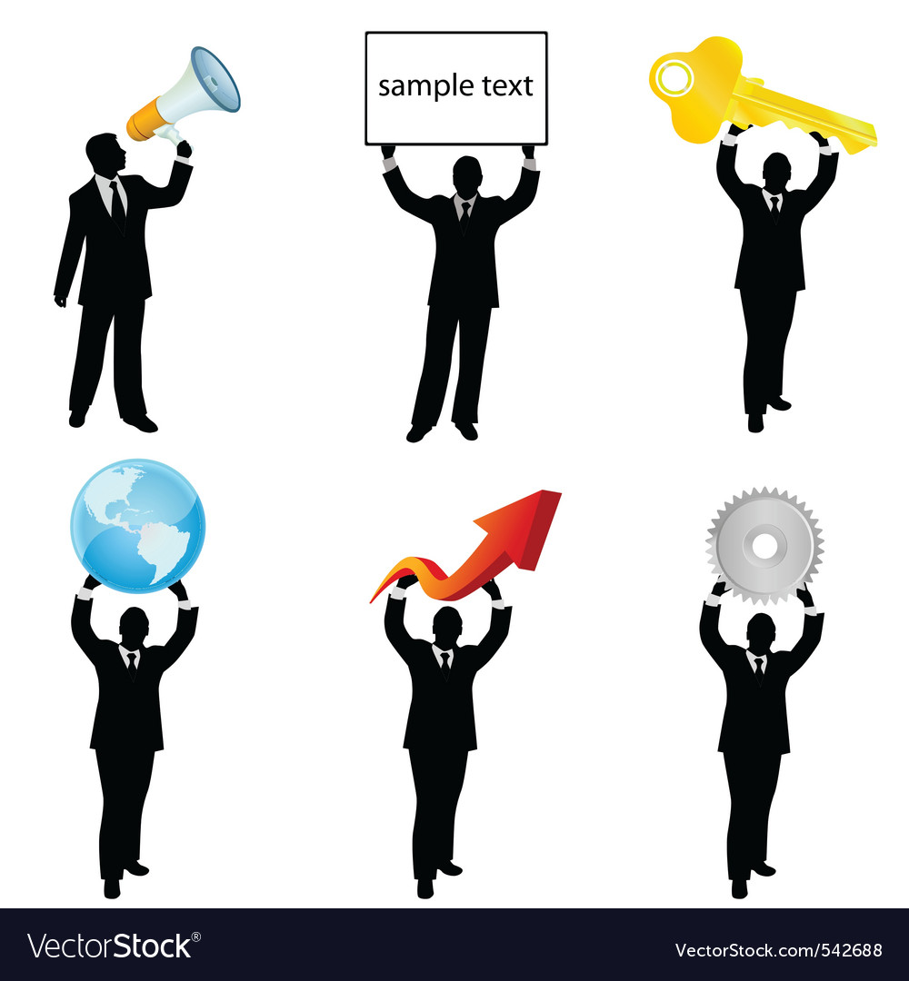 Businessman holding business vector   Price: 1 Credit (USD $1)