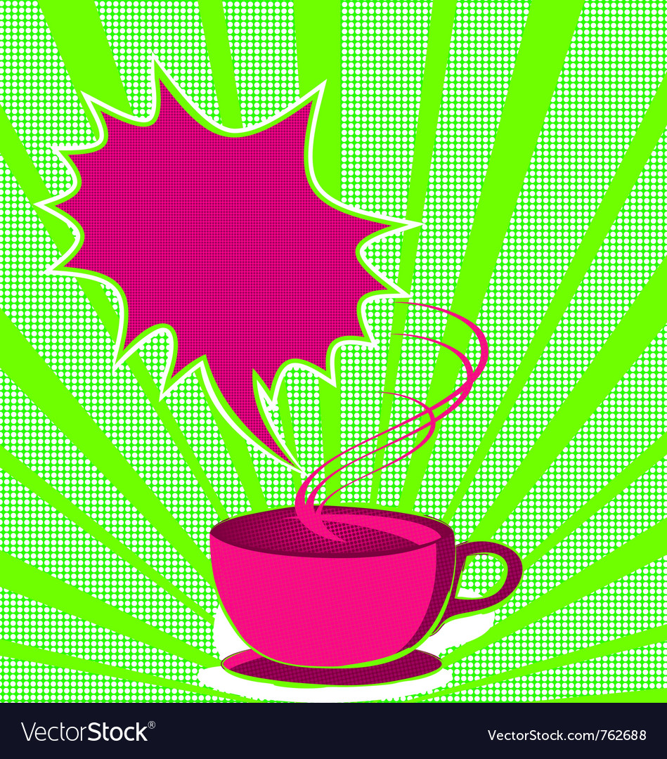 Coffee poster pop art style vector | Price: 1 Credit (USD $1)