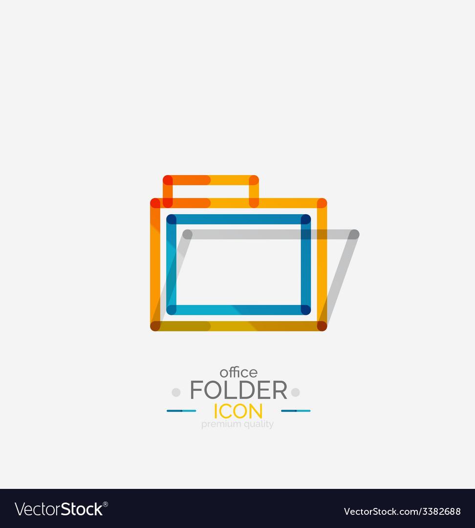 Folder logo stamp accounting binder vector   Price: 1 Credit (USD $1)