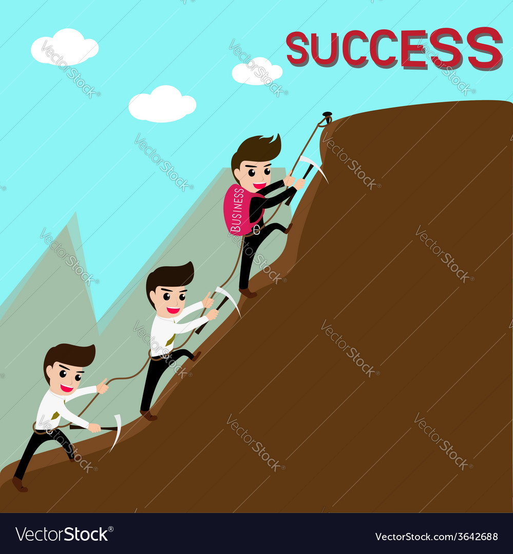 Leadership and team are success in business vector   Price: 1 Credit (USD $1)
