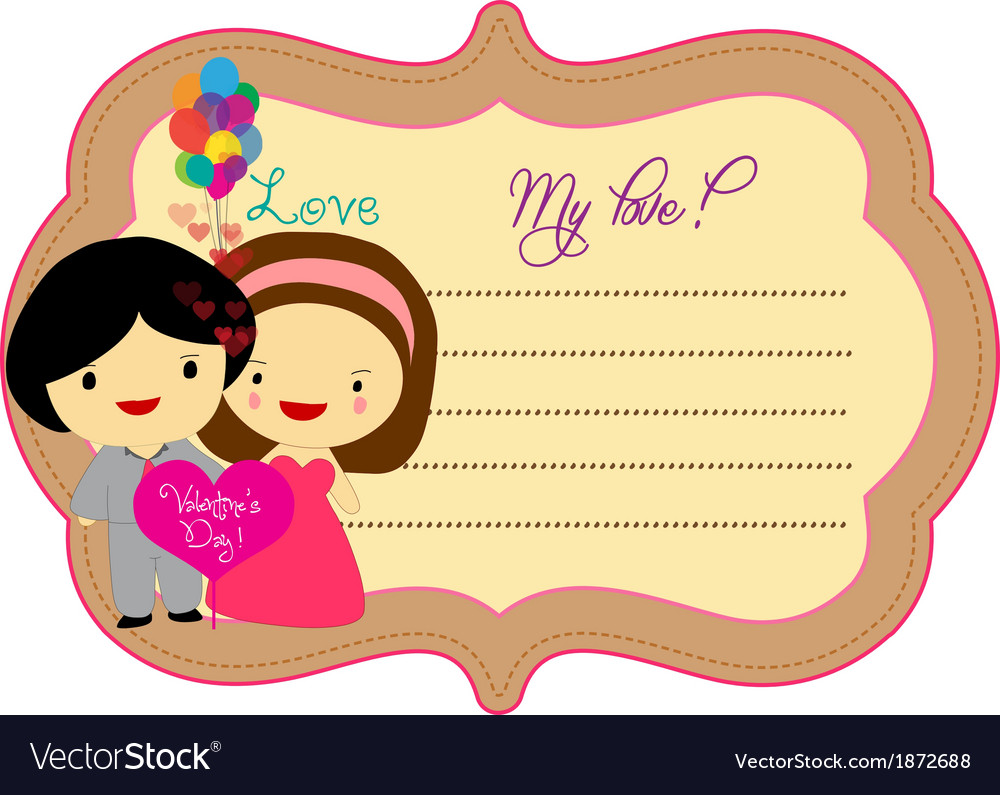 Lovely valentines about label vector   Price: 1 Credit (USD $1)